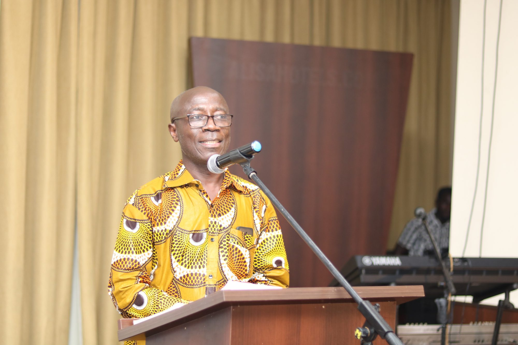 Robert Peprah-Gyamfi at a book launch. Copyright 2019